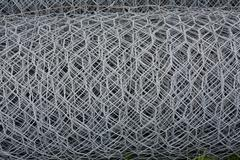Metal wires net roll Stock Photos