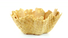 Wafer cup Stock Footage