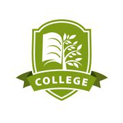 Vector logo tree and the book for college Stock Illustration