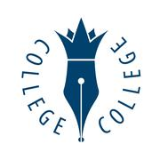 Vector logo nib and crown for college Stock Illustration