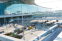Modern airport abstract background - stock photo
