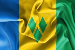 Saint Vincent and the Grenadines Flag Stock Illustration