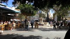 Greece. Pedestrian area in Heraklion city center Stock Footage