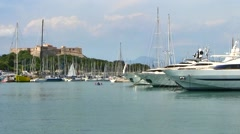 Antibes Port Boats, France Stock Footage