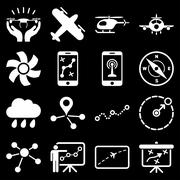 Stock Illustration of Aircraft navigation icon set