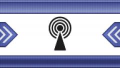 Antenna icon on a pixel screen. Seamless. Stock Footage