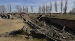Crematorium III at Auschwitz Stock Footage