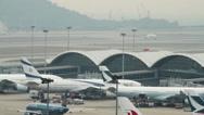 Stock Video Footage of Hong Kong international airport