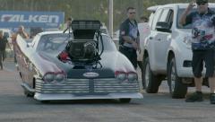 Drag Car Alcohol Doorslammer Burnout 25fps - stock footage