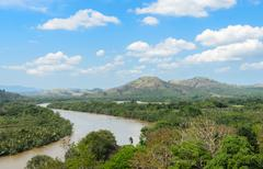 Aerial nature view of Kho Khot Kra in Thailand - stock photo