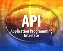 Stock Illustration of API acronym definition speech bubble illustration