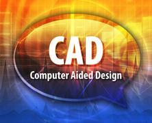 CAD acronym definition speech bubble illustration - stock illustration
