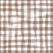 Vector seamless pattern with square hand drawn texture. Brown checkered Stock Illustration