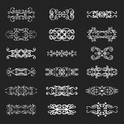 Calligraphic vector design elements and page decoration - stock illustration