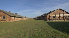 Buildings at Auschwitz Extermination Camp Stock Footage