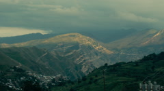 Evening view of the Caucasus Mountains. Stock Footage