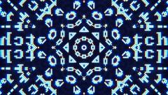 Kaleidoscope Abstract Computer Screen Looping Video Background - stock footage
