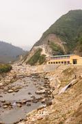Factory use power from waterfall in Tavan Village Sapa. - stock photo