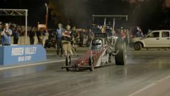 Drag Car Top Alcohol Rail 25fps - stock footage