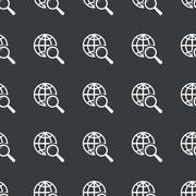 Straight black global search pattern Stock Illustration