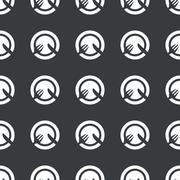 Stock Illustration of Straight black dishware pattern