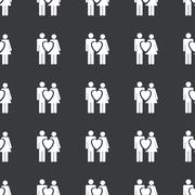 Straight black love couple pattern Stock Illustration