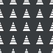 Stock Illustration of Straight black traffic cone pattern