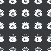 Straight black euro purse pattern Stock Illustration