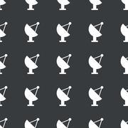 Straight black satellite dish pattern Stock Illustration