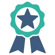 Award icon from Competition & Success Bicolor Icon Set - stock illustration