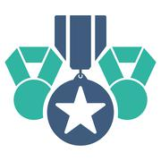 Awards icon from Competition & Success Bicolor Icon Set - stock illustration