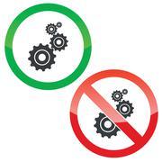 Adjust permission signs set - stock illustration