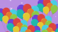 Color ballons Stock Footage