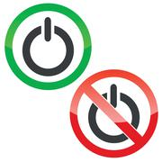 Power permission signs set Stock Illustration