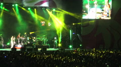 Calle 13 performing at Nathan Phillips Square, Toronto, Canada 2015 Stock Footage