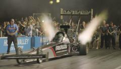Top Fuel Dragster Take Off Slow Motion Stock Footage