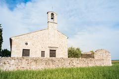 Little Church of the 13th century - stock photo
