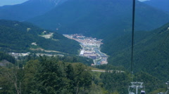 Stock Video Footage of View Rosa Khutor from the cableway, Sochi, Russia. 4K