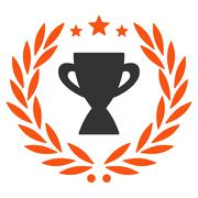 Stock Illustration of Glory icon from Competition & Success Bicolor Icon Set