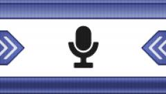 Microphone icon on a pixel screen. Seamless. - stock footage