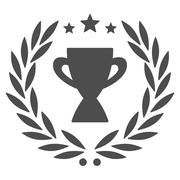 Glory icon from Competition & Success Bicolor Icon Set - stock illustration