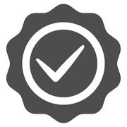 Stock Illustration of Valid icon from Competition & Success Bicolor Icon Set