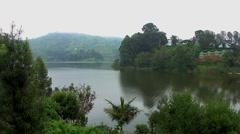 Lake Bunyonyi in Uganda, Africa Stock Footage