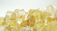 Citrine semigem geode crystals geological mineral isolated Stock Footage