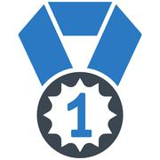 First place icon from Competition & Success Bicolor Icon Set - stock illustration