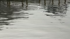 Rippling water with reflections on Lake Windermere - stock footage