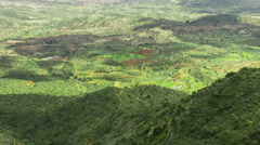 Cloud shadows moving on green pasture. Fantastic aerial view of beautiful nature Stock Footage