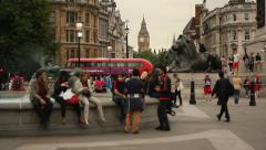 Trafalgar square, London - stock footage