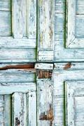 Castronno   knocker i  door  closed wood lombardy italy  varese Kuvituskuvat
