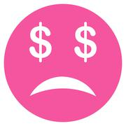 Stock Illustration of Bankrupt Smiley Icon from Commerce Set